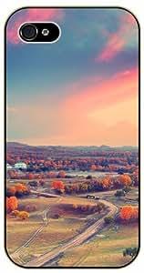 iPhone 4 / 4s Autumn sunset clouds - black plastic case / Nature, Animals, Places Series