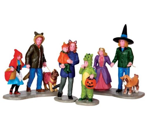 Lemax Spooky Town Trick or Treating Fun Set of 4 # 42217 ()
