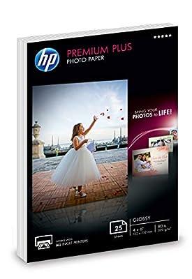 HP Premium Plus Photo Paper | Glossy | 4x6 | 25 Sheets