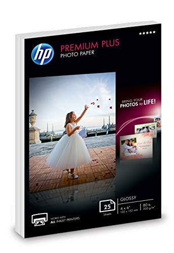 - HP Photo Paper | Glossy | 4x6 | 25 Sheets
