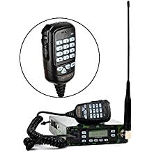 Dual Band 25W Back Pack Mobile Transceiver Radio Built-in 12000mAh Battery Dual-PTT MIC Portable Ham Amateur Radio Station with Programming Cable Antenna SO239 to PL259 Adapter