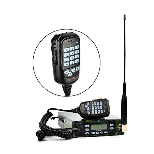 - Dual Band 25W Back Pack Mobile Transceiver Radio Built-in 12000mAh Battery Dual-PTT MIC Portable Ham Amateur Radio Station with Programming Cable Antenna SO239 to PL259 Adapter