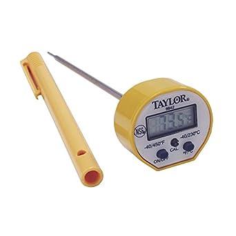 "Taylor 9842 FDA 5 ""impermeable termómetro de sonda digital de bolsillo, 1,"