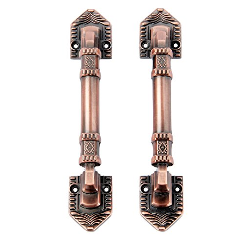 (2Pcs Modern Style Door Handles Kitchen Cabinet Knob Drawer Pulls Furniture Hardware Hole Spacing 128mm Red Bronze)