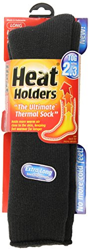 Heat Holders Ladies Extra Long Heat Holders, Charcoal, US Shoe Size 5-9