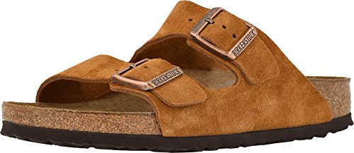 (Birkenstock Men's Arizona Soft Footbed Sandal Mink Suede Size 43 M EU)