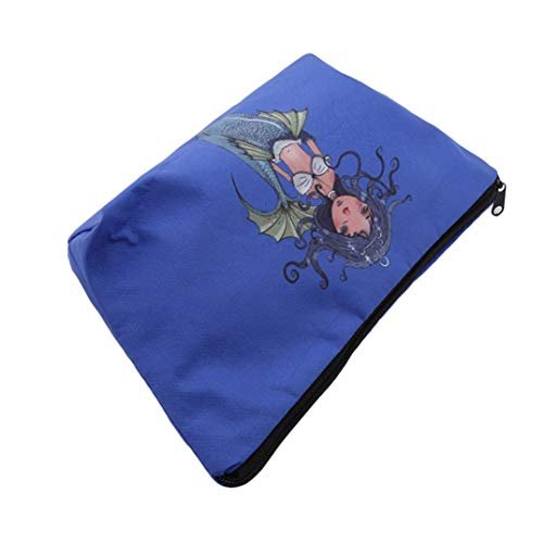 Blue Dark Package Joofff Crown Cartoon Storage Bag Cosmetic Wash Multifunctional Mermaid Travel Tidying xx7qwPp