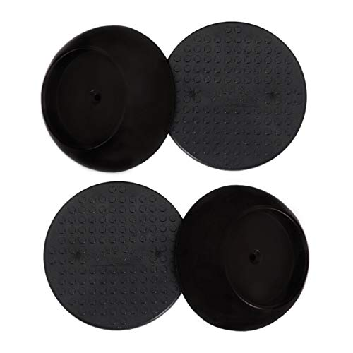 Baby Shower Part (Baby Gate Guru Small Wall Protector 4 Pack - Black - Cup Pads to Guard Your Walls from Pressure Mounted Baby Gates, Pet Gates, Safety Gates, Shower Curtain Rods, and)