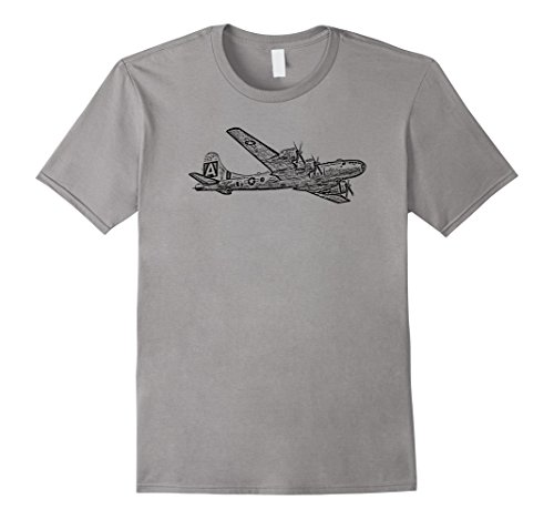 Mens B-29 Bomber Airplane Fighter Plane Graphic T-shirt 2...