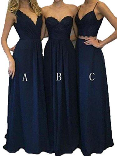 Dentelle Bessdress Corsage Trois Styles De Robes Longues Birdesmaid Robes Sexy De Soirée Bd514 Bleu Marine C