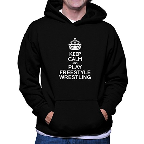 Teeburon Keep calm and play Freestyle Wrestling Hoodie