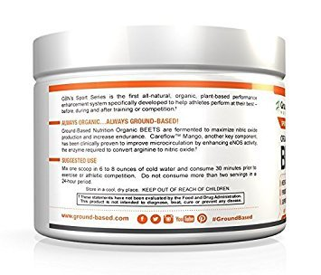 Ground-Based Nutrition Certified Organic Fermented Beet Powder, Nitric Oxide Superfood: Improve Cardiovascular Endurance, Increases Energy, Boosts Stamina, Blood Flow, No Added Sugar (3 Pack) by Ground-Based Nutrition (Image #3)