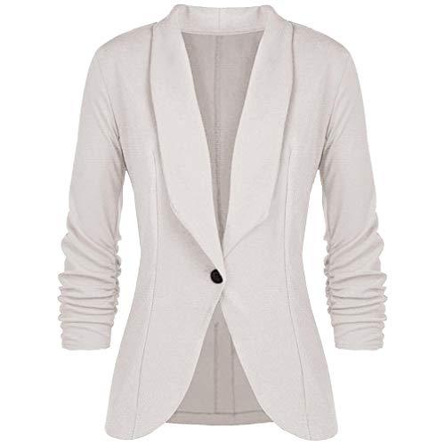 (TOPUNDER Fashion Elegant Slim Suit Coat for Women Style Three Quarter Sleeve Blazer)