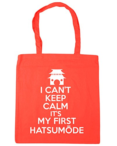HippoWarehouse no puedo Mantener la calma es mi primera hatsum? De Bolsa De La Compra Bolsa de playa 42cm x38cm, 10litros Coral