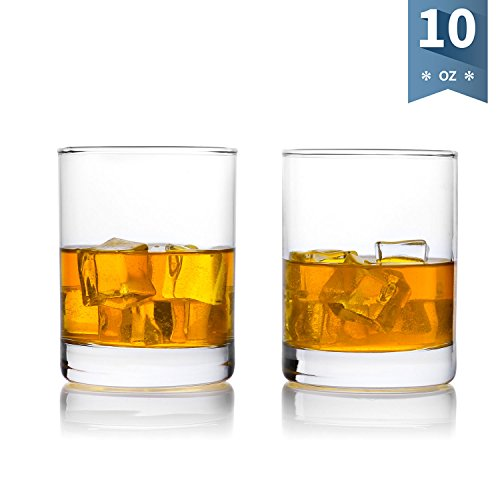 Sweese 4692 Whiskey Glasses, Old Fashioned Drinking Glasses for Scotch, Bourbon and Cocktail, Set of 2,10-Ounce (Old Whiskey)