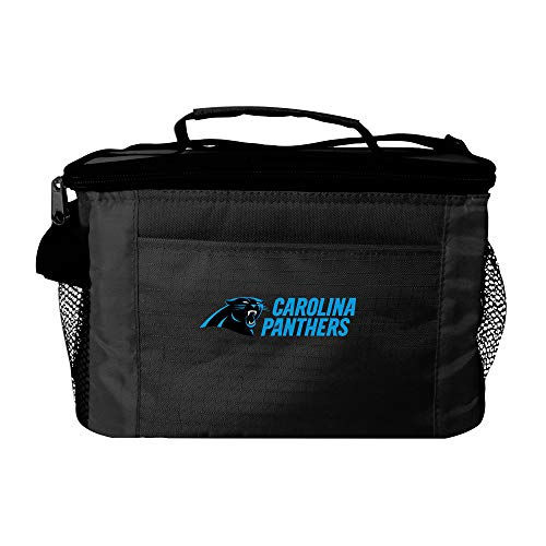 Carolina Lunch Box - NFL Carolina Panthers Insulated Lunch Cooler Bag with Zipper Closure, Black