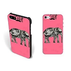 Personalized Design Tribal Elephant Animal Iphone 5 Case Cute Mustache Pink Floral Hard Plastic Iphone 5s Case Screen Protector
