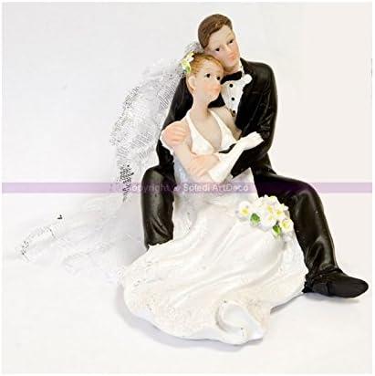 Hobi Couple De Maries Assis Et Enlaces Figurines 9 Cm Pour Piece Montee Mariage Amazon Fr Cuisine Maison