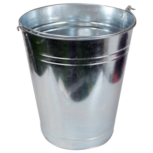 Kingfisher GALB 9 Litre Galvanised Bucket - Silver King Fisher