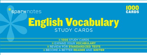 English Vocabulary SparkNotes Study Cards (English Vocabulary Cards)