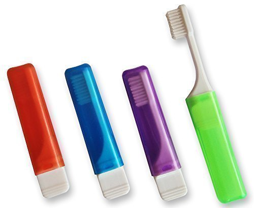 Dental Aesthetics UK 4 X Orthodontic Travel Toothbrush Vtrim (Set Of 4 Colours)