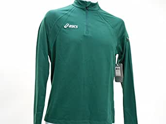 Asics Team Thermo 1/2 Zip T-Shirt Mens Forest Green