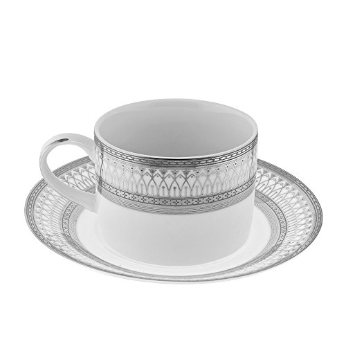 10 Strawberry Street Iriana Cup and Saucer (Set of 6) IRIANA-9SLV-6