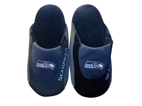 Happy Feet Comfy Feet - Officially Licensed Mens and Womens NFL Low Pro Slippers Seattle Seahawks Low Pro iCIWEwDJv
