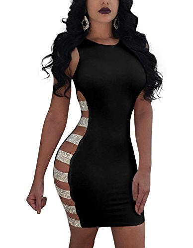 black side cutout dress - 9