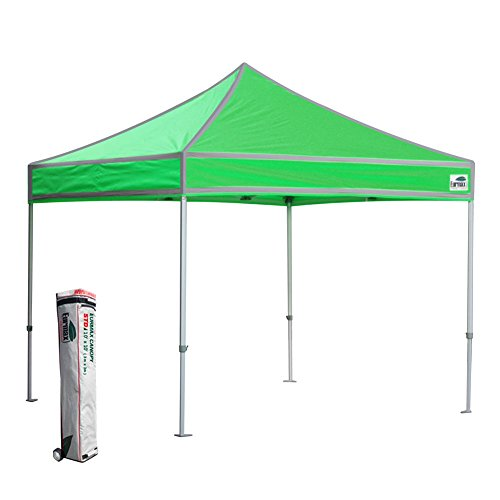 Eurmax High Vision 10×10 Ez Pop Up Canopy Outdoor Gazebo Party Tent With Reflective Silver Strips and Roller Storage Bag