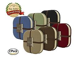 2 Pack: GoodGram Non Slip Ultra Comfort Memory Foam Chair Pads - Assorted Colors (Merlot)