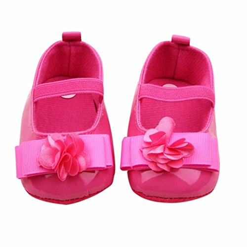 Voberry Toddler Baby Girl's Princess Walking Mary Jane Crib Shoes Ballet Flats (6~12 Month, Hot -