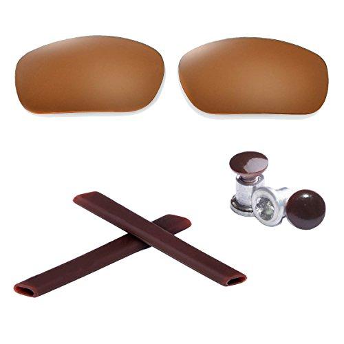New Walleva Polarized Brown Lenses +Brown Earsocks + Brow...
