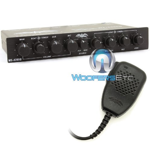 Parametric Eq Equalizer - Wet Sounds WS-420 SQ - 4 Band Parametric Equalizer with 3 Zone Operation with Microphone