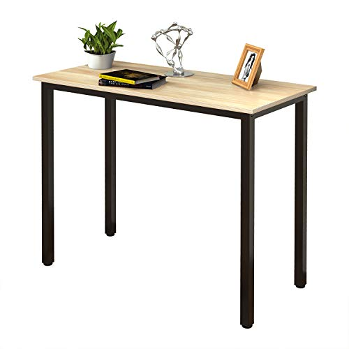 (WAYES 31-1/2 Inches Small Computer Desk for Small Spaces - Heavy Duty Writing Table for Home Office - Modern Simple Compact Rectangular Desk - Multipurpose Dining Table)