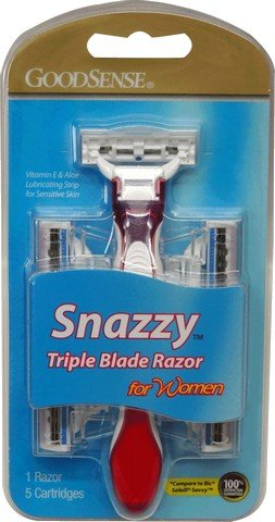 Good Sense Womens Snazzy Triple Blade Disposable Razor - Case of 36 by Good Sense