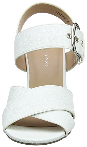 White Ouvert New Resco Femme 10 Bout Look Escarpins White q0If4w0