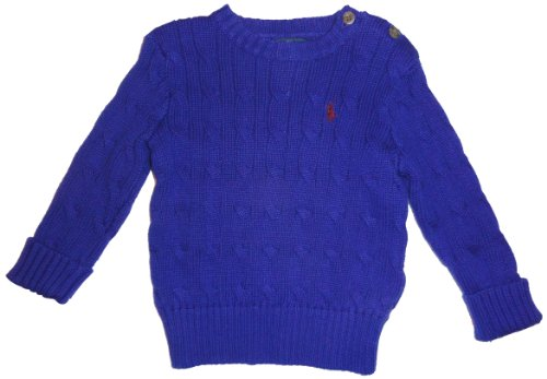 Polo by Ralph Lauren Infant Boy's Long Sleeved Pullover Sweater Blue Size 12 Months