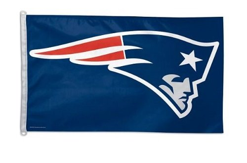(NFL New England Patriots 3-by-5 foot Logo Flag)