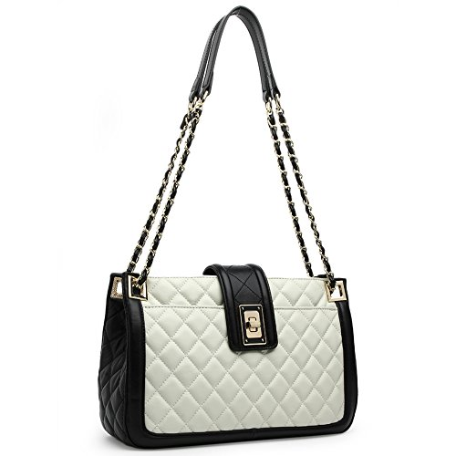 Handbag Leather Fashion LUBLIN ANA Bag Lamb Crossbody Quilting Lady Purse White Shoulder Women wZxXwqt