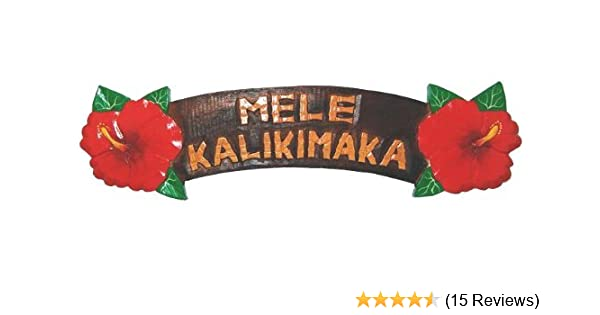 amazoncom painted hibiscus wood sign mele kalikimaka home kitchen - How Do You Say Merry Christmas In Hawaiian