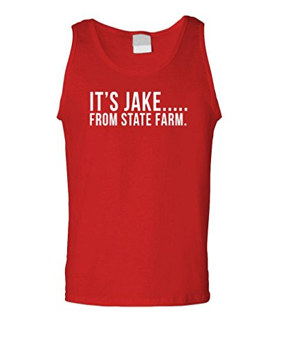 The Goozler Its Jake From State Farm Funny Commercial   Mens Tank Top  Xl  Red