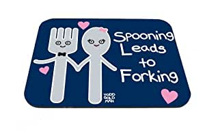 Good-will - Spooning Leads to Forking Design Mouse Pad Anti-slip Mouse Pad Mat Mice Mousepad