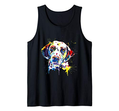 (Dalmatian Artistic Funny Dog Breed - Dalmatian T-Shirt Gift Tank Top)