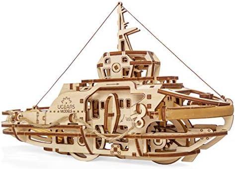 [해외]Tugboat Ugears 3D Mechanical Wooden Model for Self Assembling DIY Brainteaser / Tugboat Ugears 3D Mechanical Wooden Model for Self Assembling, DIY, Brainteaser