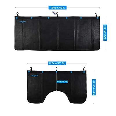 RUPSE Automotive Mechanic Magnetic Fender Cover Mat Pad Set with Hooks Big Size for SUV 3PCS: Automotive