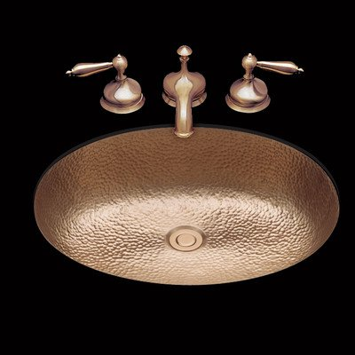 Sculptured Metal Bathroom Sink Sink Finish: Antique Brass