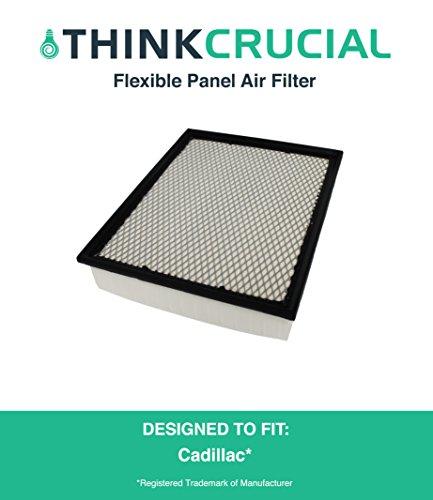 Premium Extra Guard Flexible Panel Air Filter, Part # A45315 & # CA8755A, Fits Acura TSX, Honda Accord, Maximum Air Flow, 1.57 x 5.92 x 13.5 in., by Think Crucial
