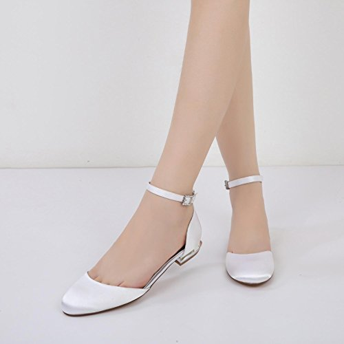 L@YC Womens Peep Toe Pleated High Heel Purple Wedding Bridesmaid Shoes Silver psqbG