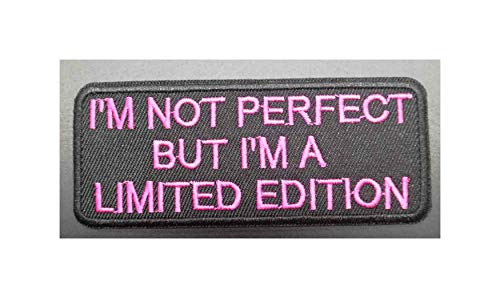 Limited Edition... Pink Text Embroidered Patch Tactical Military Morale Biker Motorcycle Comedy Funny Humor Saying Quote Series Iron or Sew-on Emblem Badge Appliques Application Fabric Patches]()